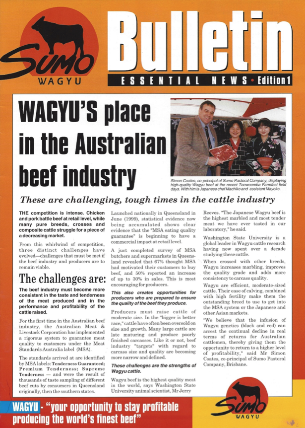 New meat standards push graziers to higher levels to stay profitable in the beef industry. The Wagyu breed offers a unique opportunity to overcome these challenges and provide strength in both marbling, quality and overall consistency of carcass.